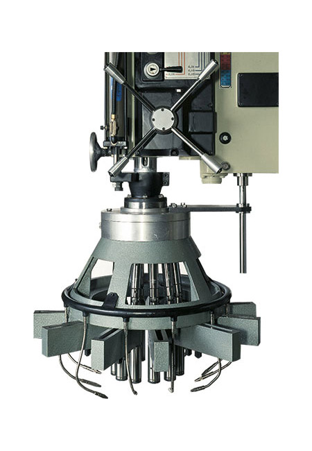 ERLO Group bimanual control for industrial drilling and tapping machines
