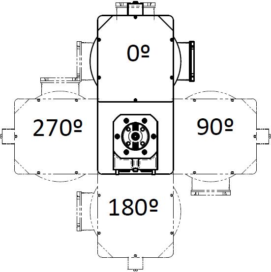 Plano de posiciones de la caja de poleas