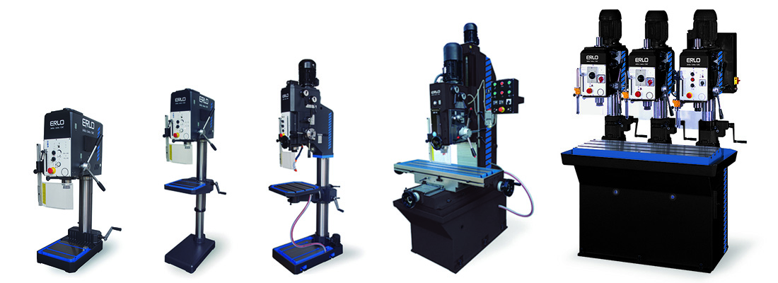 High-performance drilling and tapping machines manufactured by ERLO
