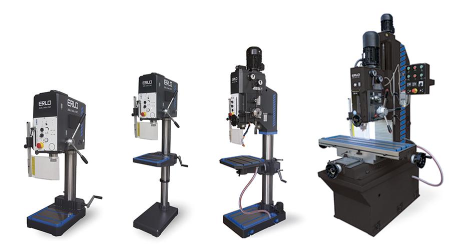 Taladros y roscadoras de alto rendimiento diseñados y fabricados por ERLO
