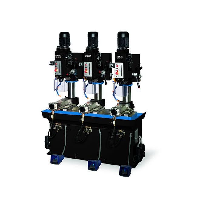 Baterías lineales de taladros y roscadoras con avance manual y transmisión por engranes, Serie BSER/L fabricado por ERLO