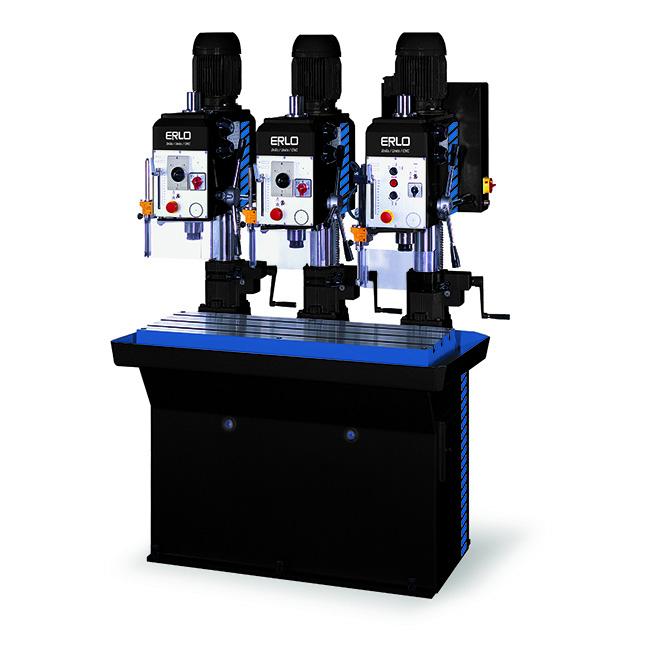 Baterías lineales de taladros y roscadoras con avance manual y transmisión por correas, Serie BSR/L fabricado por ERLO