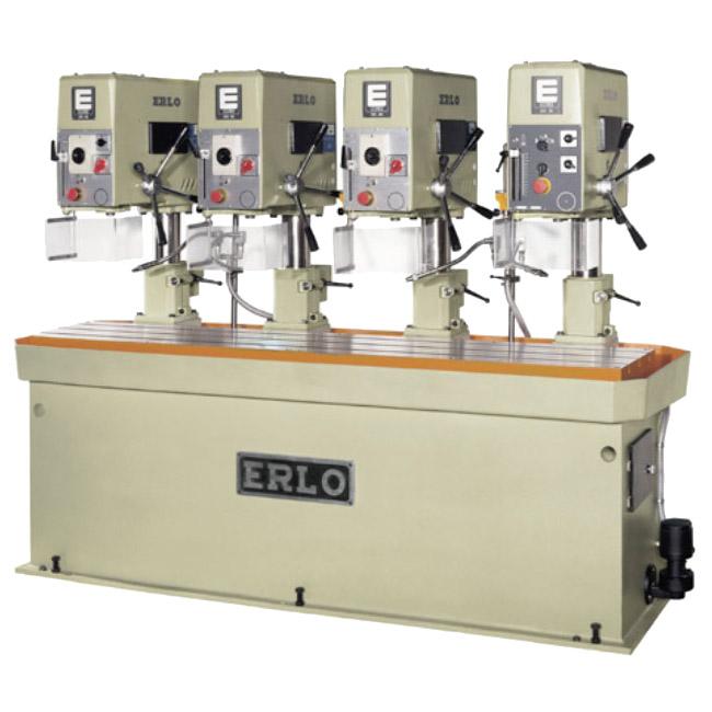 Baterías lineales de taladros y roscadoras con avance manual, transmisión por correas y variador electrónico, Serie BSVR/L fabricado por ERLO