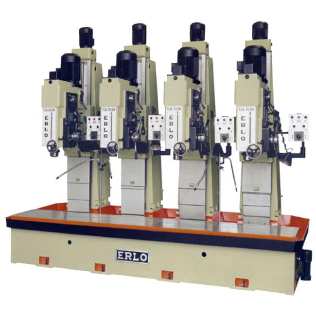 Baterías lineales de taladros y roscadoras con avance automático, embrague electromagnético y transmisión por engranes, Serie BTBV/L fabricado por ERLO