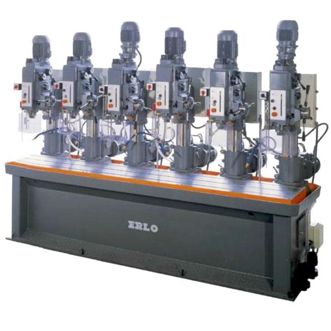 Baterías lineales de taladros y roscadoras con avance manual y transmisión por engranes, Serie BSEAR/L fabricado por ERLO