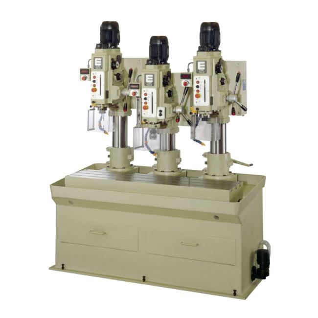 Baterías lineales de taladros y roscadoras con avance automático, embrague electromagnético y transmisión por engranes, Serie BTSER/L fabricado por ERLO