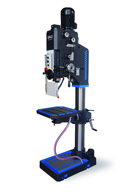 Round column drill with automatic feed, mechanical clutch, and cog transmission Series GP-50 manufactured by ERLO