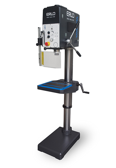 Round column drill with manual feed and belt transmission Series V-32 manufactured by ERLO