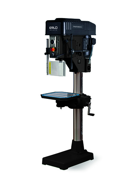 Round column drill with manual feed and mechanical conical pulley variator transmission Series V-40 manufactured by ERLO