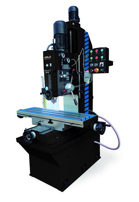 Taladro de columna prismática con avance automático, embrague electromagnético y transmisión por engranes Serie TF fabricado por ERLO