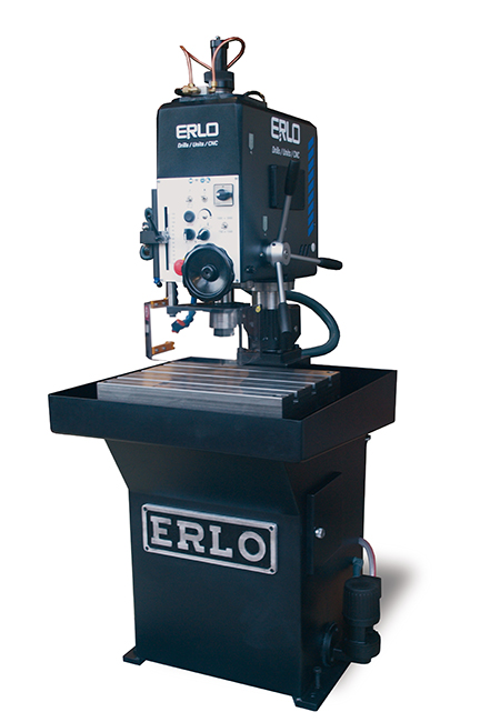 Fixed bench tapping machine with automatic pattern spindle tapping feed, manual drilling feed and belt transmission Series BSH manufactured by ERLO