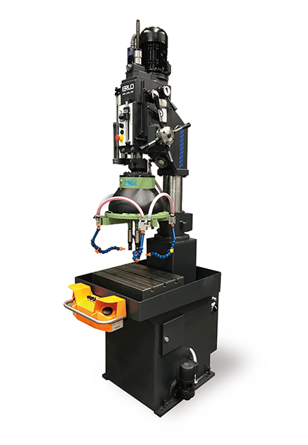 Fixed bench drilling and tapping machine with automatic feed, mechanical clutch and cog transmission Series BTSA manufactured by ERLO