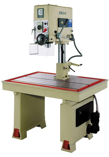 Taladro y roscadora de mesa fija con avance manual, transmisión por correas Serie MS/MSR fabricado por ERLO