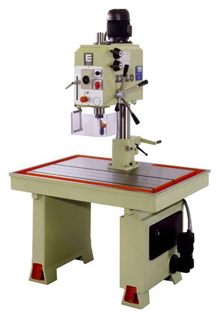 Taladro y roscadora de mesa fija con avance manual, transmisión por engranes Serie MSE/MSER fabricado por ERLO