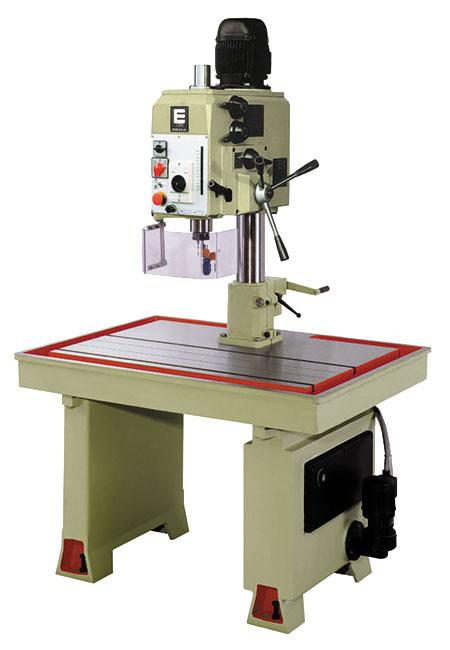 Taladro y roscadora de mesa fija con avance automático, transmisión por engranes Serie MSEA/MSEAR fabricado por ERLO