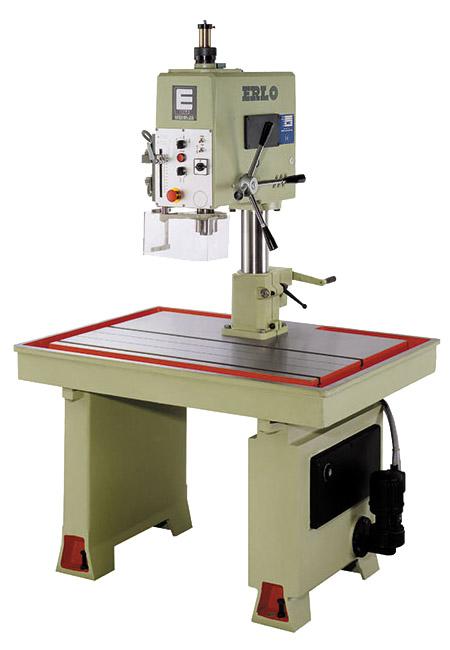 Roscadora de mesa fija con avance manual de taladrado, avance automátiod de roscado por patrón husillo, transmisión por correas Serie MSH/MSHR fabricado por ERLO