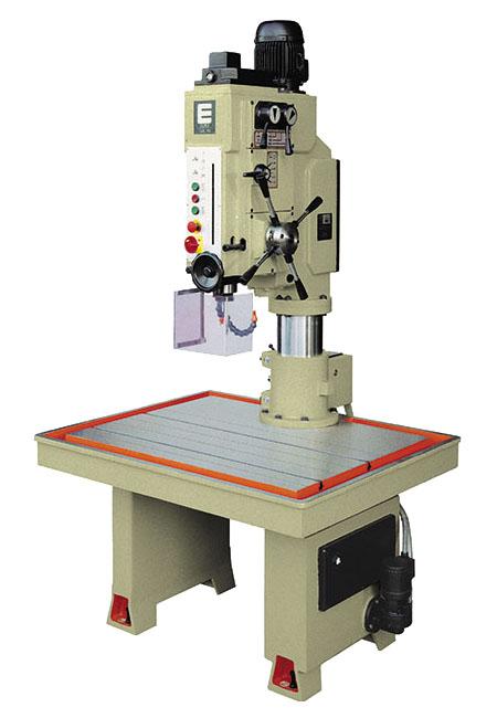 Taladro y roscadora de mesa fija con avance automático, embrague mecánico y transmisión por engranes Serie MTCA fabricado por ERLO