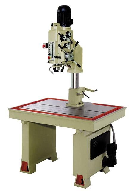 Taladro y roscadora de mesa fija con avance automático, embrague mecánico y transmisión por engranes Serie MTSA/MTSAR fabricado por ERLO