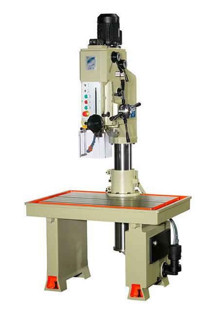 Taladro y roscadora de mesa fija con avance automático, embrague electromagnético y transmisión por engranes Serie MTSE/MTSER 32mm, 35mm, 40mm de taladrado fabricado por ERLO