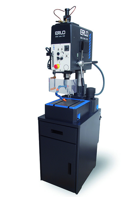 Tapping and drilling machine with manual drilling feed, automatic tapping feed and cog transmission Series SHE/SHER manufactured by ERLO