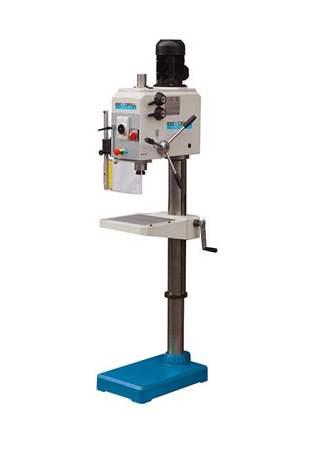 Taladro y roscadora de columna redonda con avance manual y transmisión por engranes Factory Iberdrill IX 32 fabricado por el Grupo Erlo