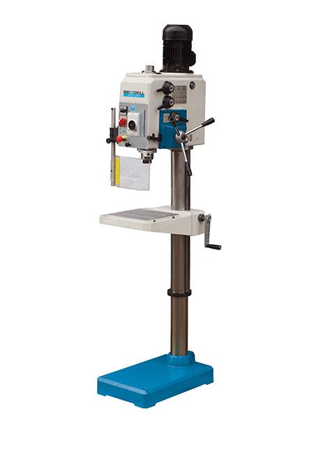 Taladro y roscadora de columna redonda con avance manual y transmisión por engranes Factory Iberdrill IXA 32 fabricado por el Grupo Erlo