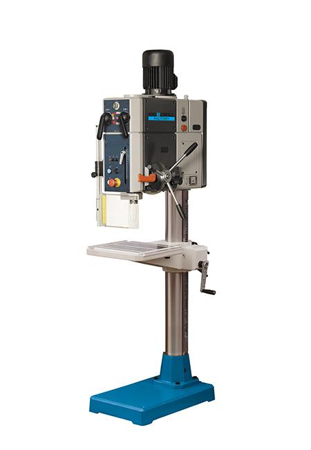 Taladro y roscadora de columna redonda con avance automático y transmisión por engranes Factory Iberdrill IXA 40 fabricado por el Grupo Erlo