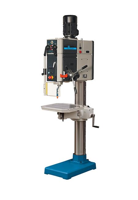 Taladro y roscadora de columna redonda con avance automático y transmisión por engranes Factory Iberdrill IXA 50 fabricado por el Grupo Erlo
