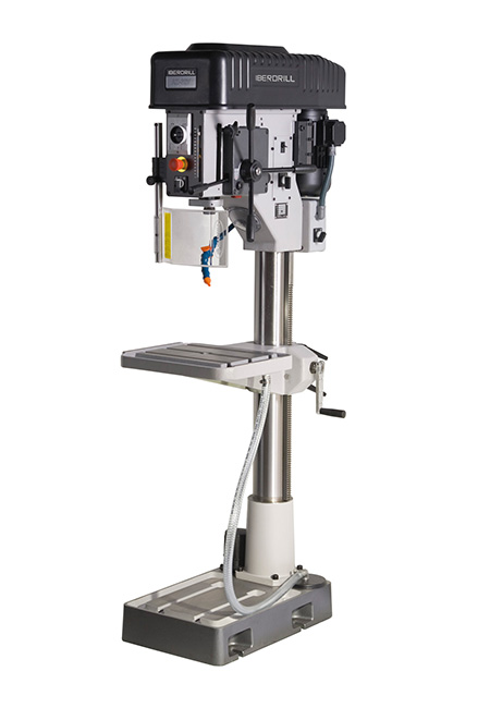 Drilling and tapping machine with automatic feed and variator belt transmission Series AZ 32V manufactured by Iberdrill, drilling capacity 32 mm
