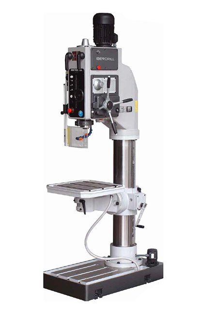 Taladro roscador con avance automático electromagnético y transmisión por engranes Serie B fabricado por Iberdrill con 50mm de capacidad de taladrado