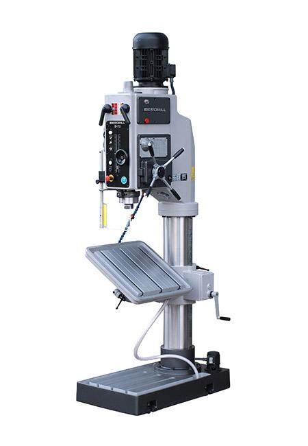 Taladro roscador con avance automático electromagnético y transmisión por engranes Serie B fabricado por Iberdrill con 60mm de capacidad de taladrado