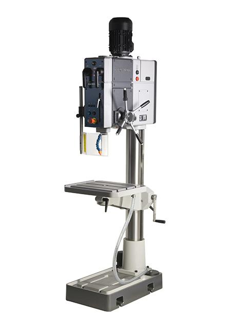 Von Iberdrill hergestellte Bohr- und Gewindeschneidmaschine mit elektromagnetischem, automatischen Vorschub und Zahnradantrieb der Serie BX mit einer Bohrleistung von 32 mm