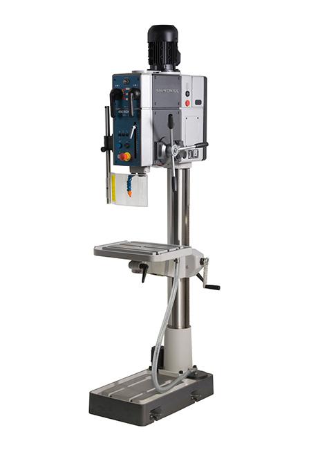 Von Iberdrill hergestellte Bohr- und Gewindeschneidmaschine mit manuellem Vorschub und Zahnradantrieb der Serie SX, mit einer Bohrleistung von 40 mm