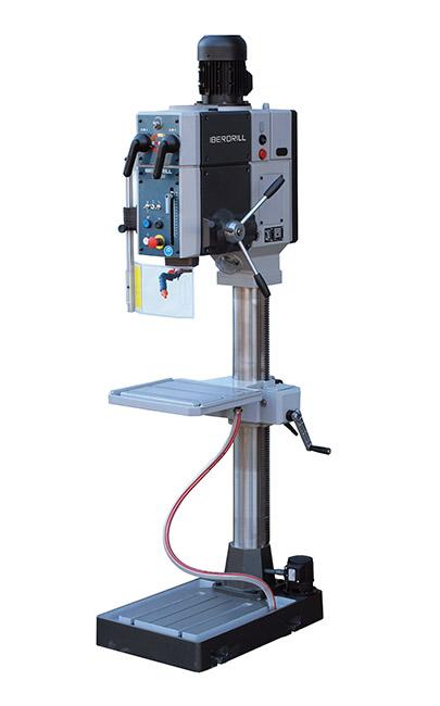 Taladro roscador con avance manual y transmisión por engranes Serie SX fabricado por Iberdrill con 34 mm de capacidad de taladrado
