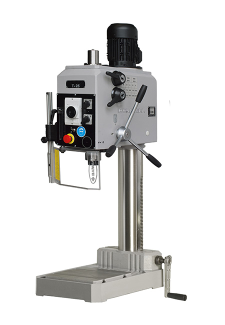 Drilling and tapping machine with manual feed and cog transmission Series T manufactured by Iberdrill